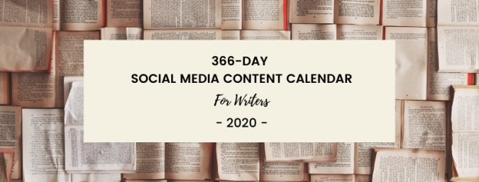 social media content calendar for writers
