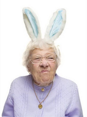 Miss, those bunny ears really complement your attitude.
