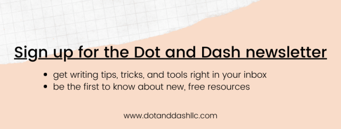 Sign up for the Dot and Dash newsletter