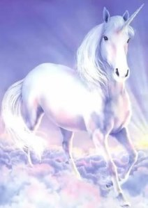 This is a drawing of an animal, i.e., a unicorn.